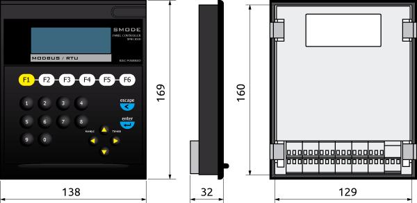 Габаритные размеры контроллера SMH 2010